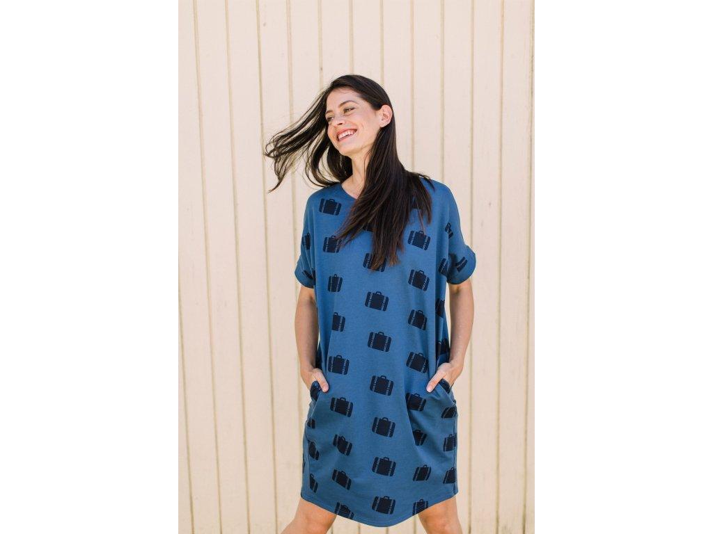 MILE Oversized šaty Kufříky