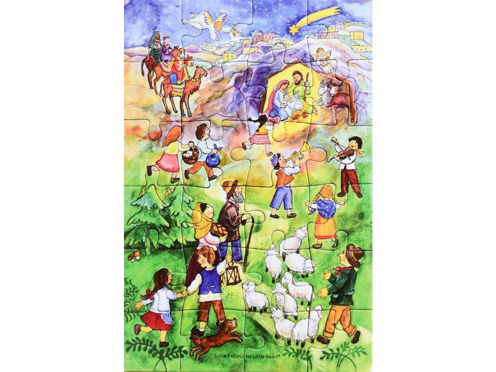 Puzzle adventní kalendář Betlémská cesta