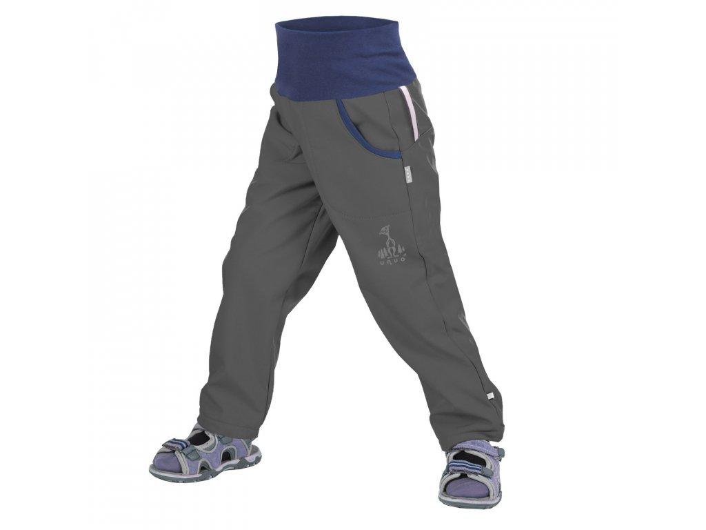 UNUO softshellové kalhoty bez zateplení ANTRACITOVÉ + REFLEXNÍ OBRÁZEK EVŽEN