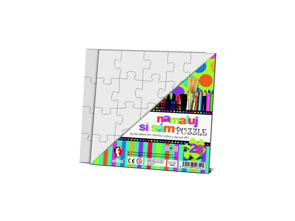 Namaluj si svoje puzzle Čtverec