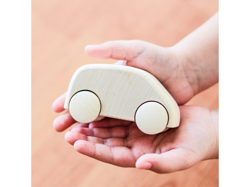 Dřevěné auto Přírodní