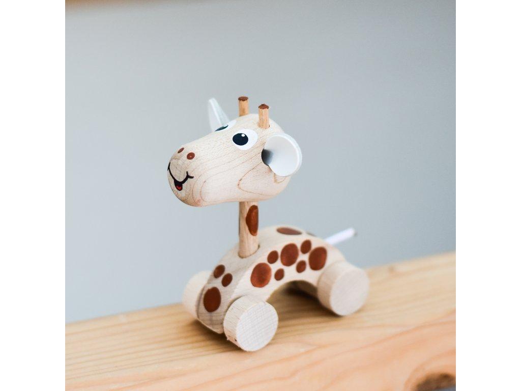 Dřevěné zvířátko do ruky - Žirafa