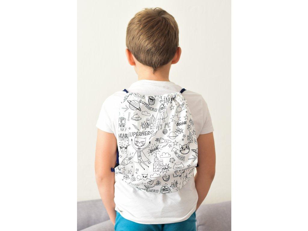 Vybarvovací bavlněný batoh