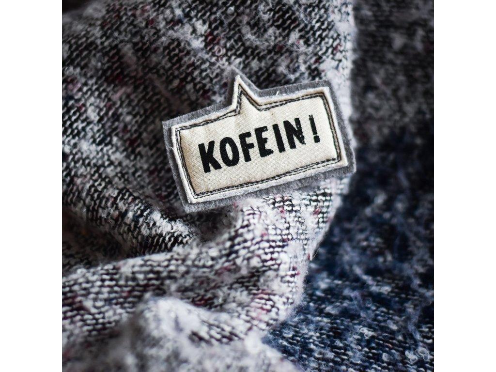 Brož KOFEIN - šedá