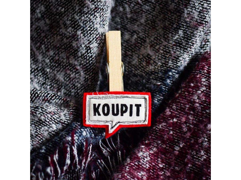 Nalepovací kolíček KOUPIT červená