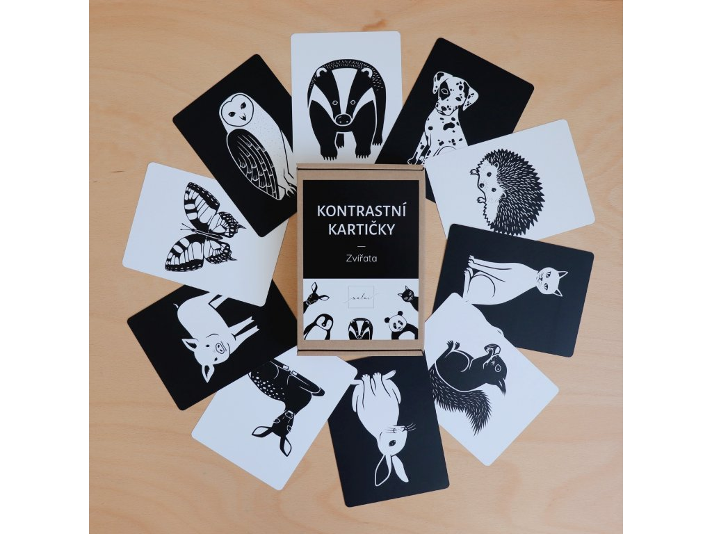 Kontrastní kartičky Zvířata
