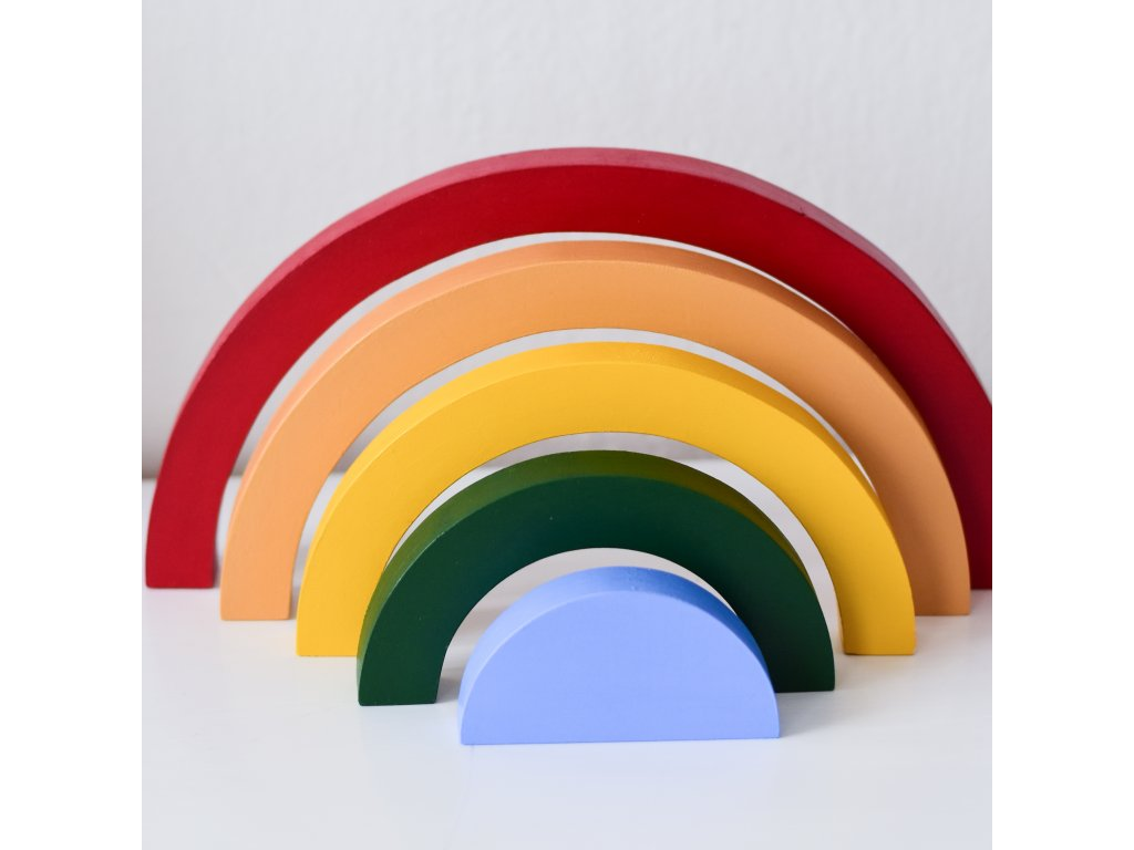 Dřevěná stavebnice DUHA multicolor