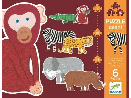 Podlahové puzzle - opičák Henri