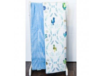Oboustranná deka - Modrý akvarel