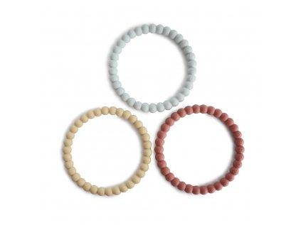 Sada silikonových kousátek, které můžete mít pořád u sebe. Krásný šperk, který si vaše děti zamilují.