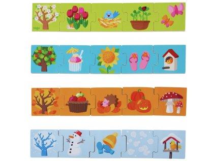 Dřevěné puzzle pro děti od 2 let, pro rozvoj motorických schopností, přiřazování a učení barev.