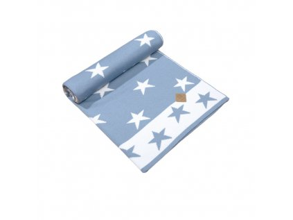 Dětská deka s hvězdičkami 50%merino/50%akryl