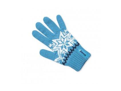 Dětské pletené merino rukavice- modré