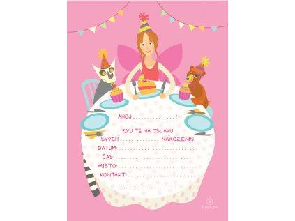 Pozvánky na dětskou oslavu narozenin HOLKA