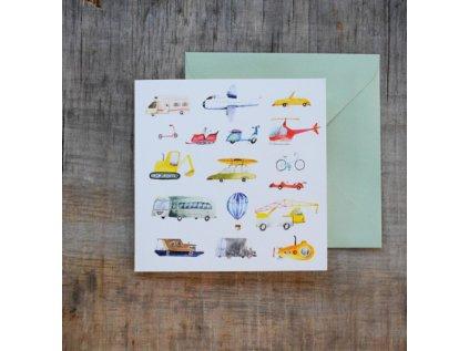 Blahopřání pro děti Dopravní prostředky