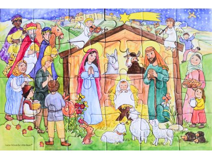 Puzzle adventní kalendář Betlém s poutníky
