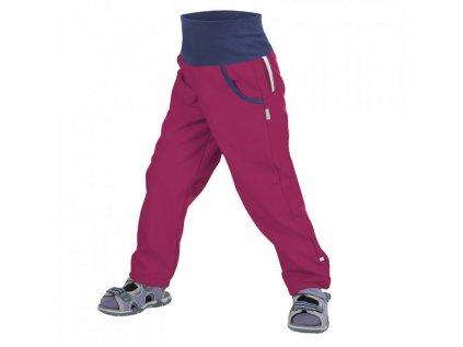 UNUO softshellové kalhoty bez zateplení MALINOVÉ