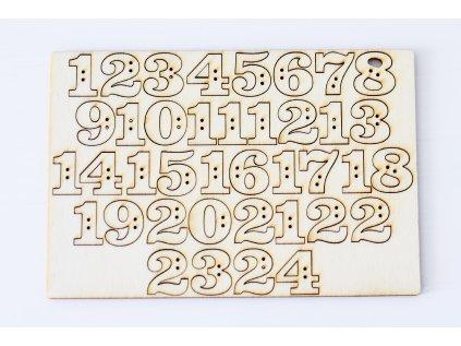 Číslice na adventní kalendář 1-24