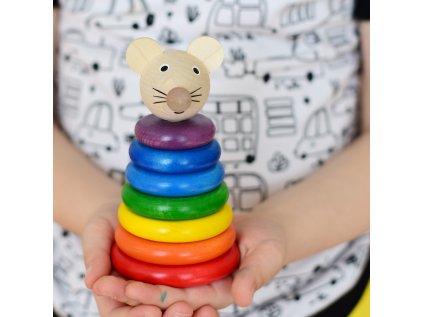 Skládačka Myška barevná