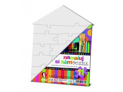 Namaluj si svoje puzzle Domeček