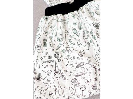 Vybarvovací dětská sukně - Jednorožci