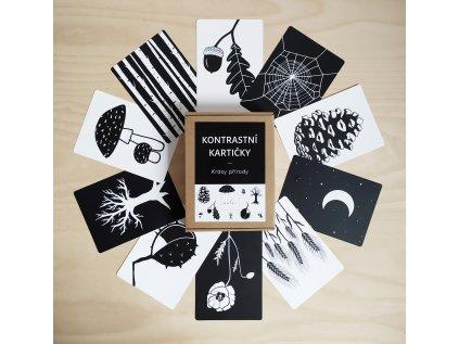 Kontrastní kartičky Příroda