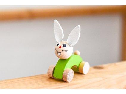 Dřevěné zvířátko do ruky - Zajíček