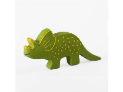 Tikiri Baby Dinosaurus z prirodnej gumy triceratops