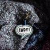 Kožený přívěsek na klíče TADY! mint