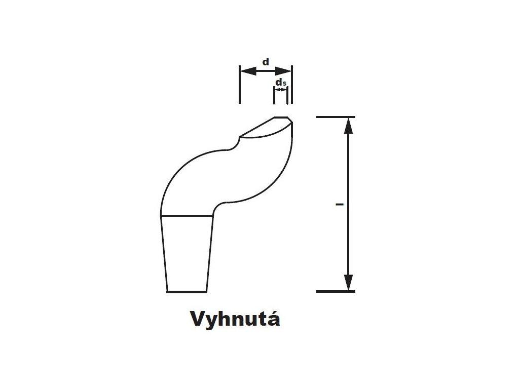 Bodová elektroda TECNA 3723 (pr.16) vyhnutá
