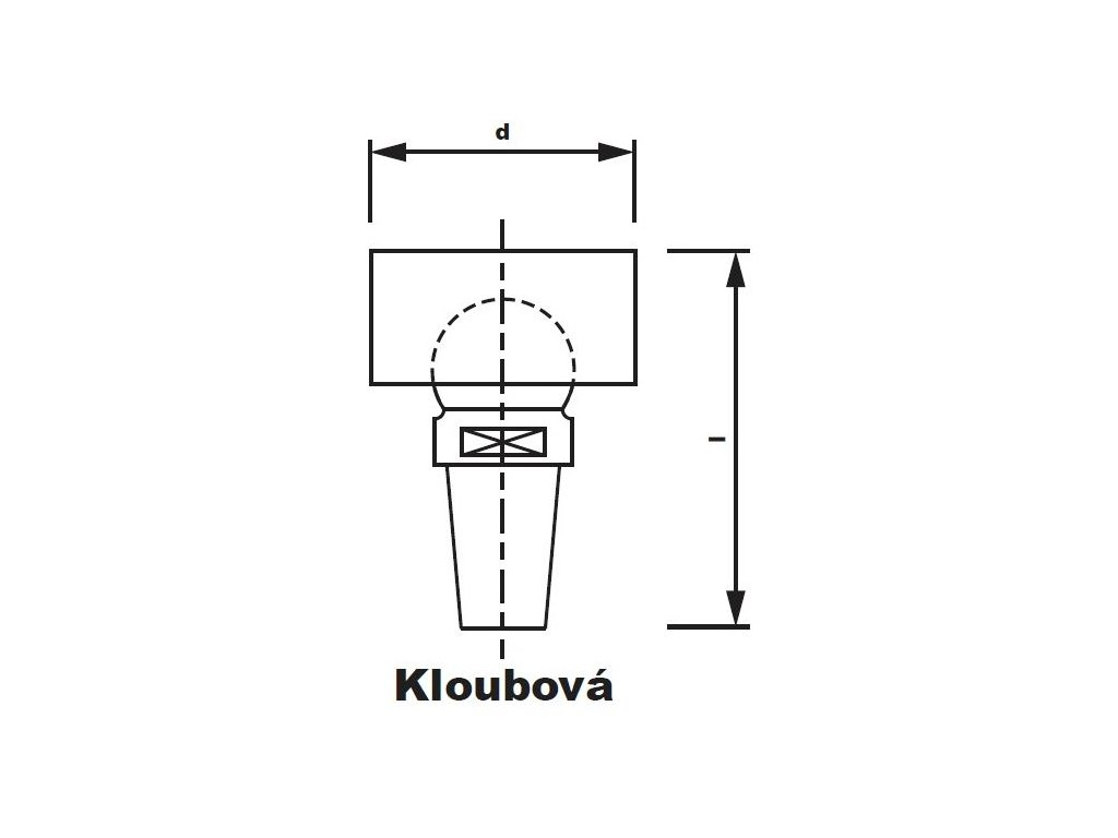 Bodová elektroda TECNA 3625 (pr.18) s kloubem