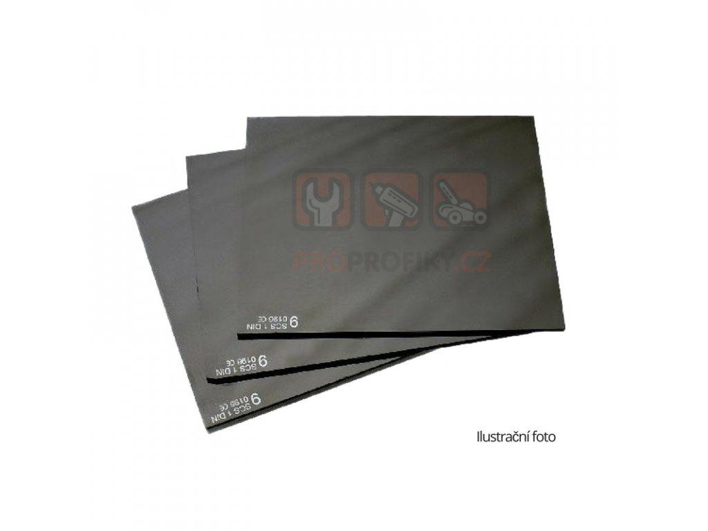 Sklo pro svářečskou kuklu 110x90 DIN 12- tmavé