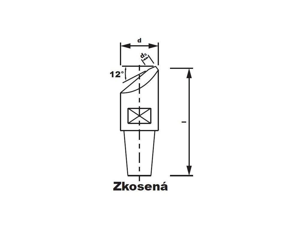 Bodová elektroda TECNA 3622 (pr.18) šikmá