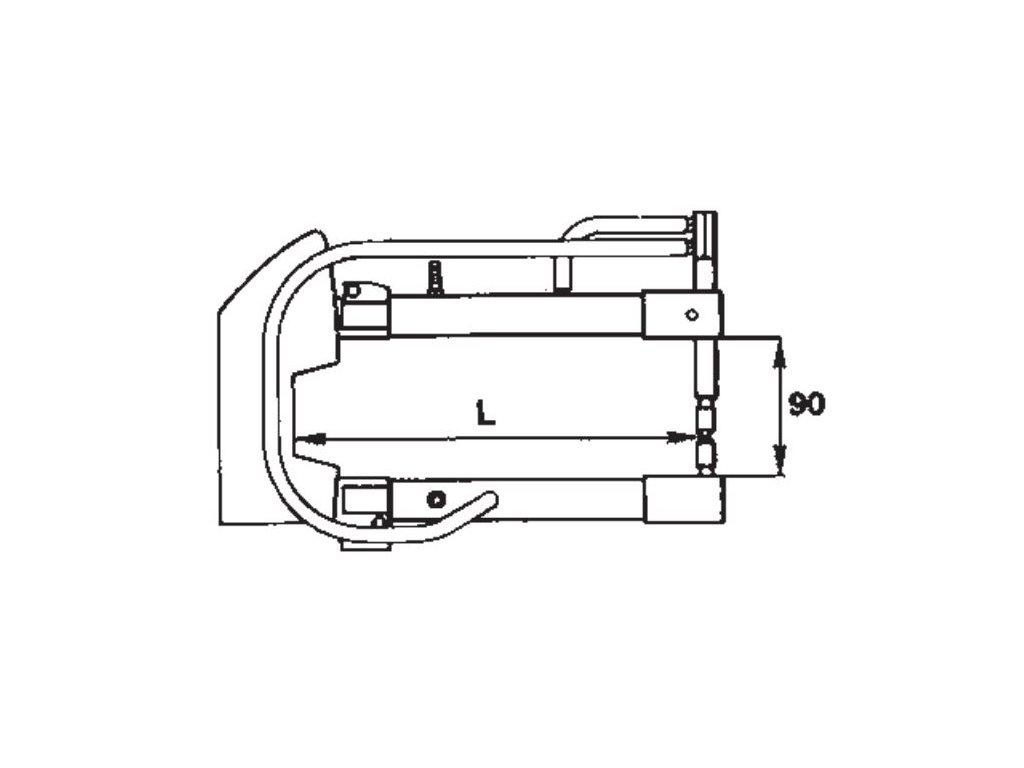 Ramena 250mm vodou chl.k bod. 7903-13-15