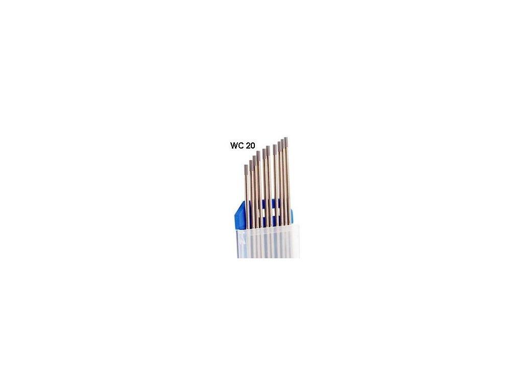 Svářecí elektroda wolframová WC20 3,2x175 šedá