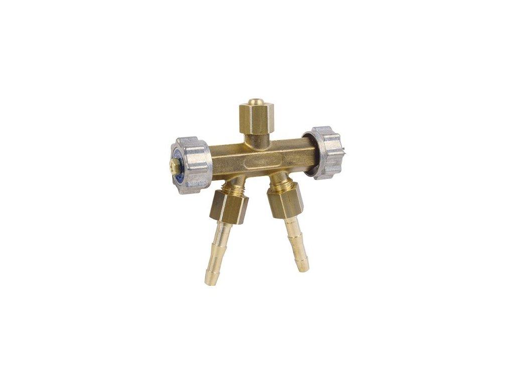 Rozdvojka G1/4''-2xG1/4'' (pr.6) s uz.ventily