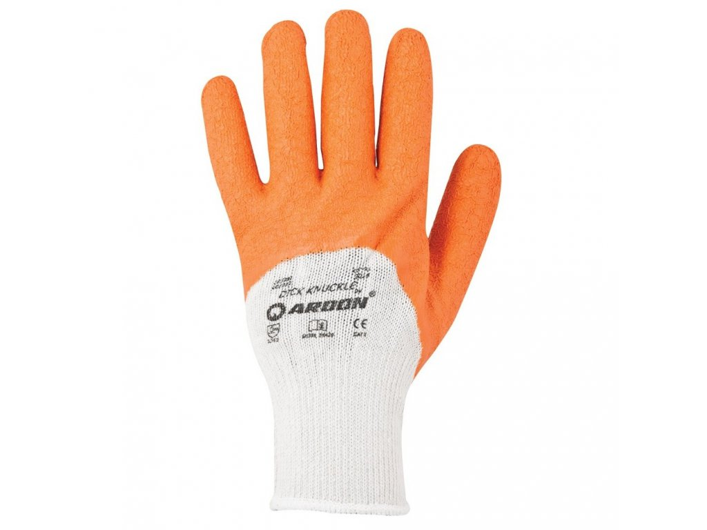 Pracovní rukavice ARDON DICK KNUCKLE - máčené, latexové