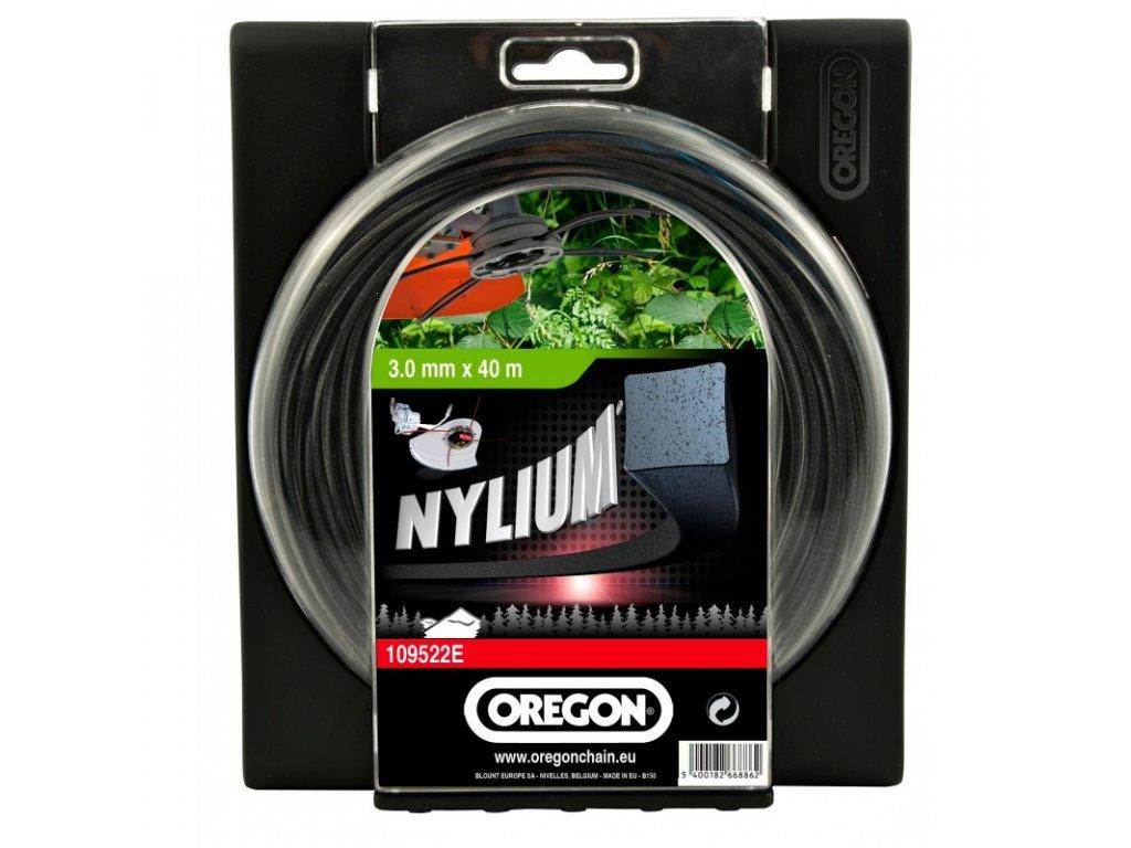 Žací struna OREGON NYLIUM - čtverec 3,0 mm / 60 m