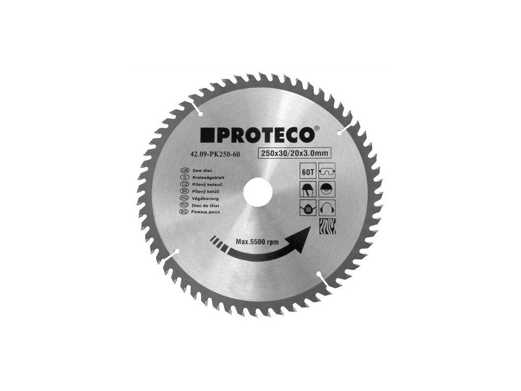 Pilový kotouč PROTECO SK 200x2.6x30 60z + redukce 30/20 mm