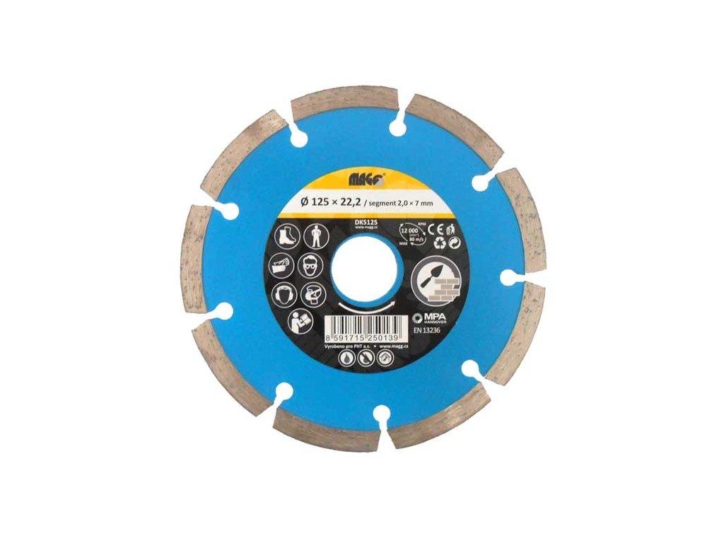 Diamantový segmentový kotouč MAGG 115x22,2mm modrý