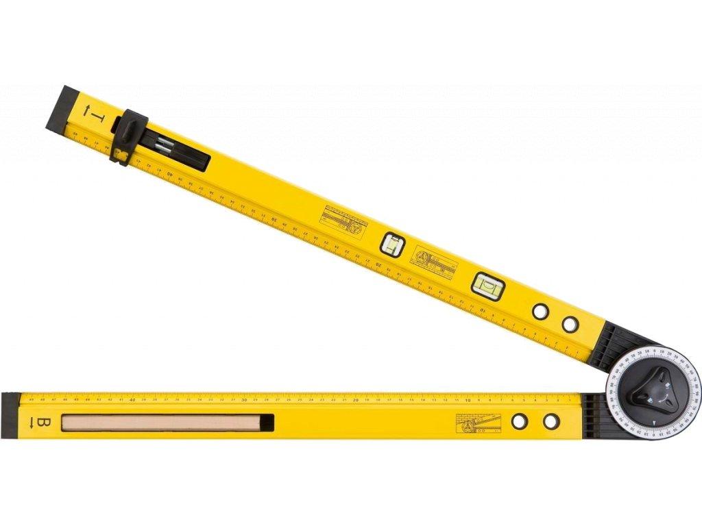 Úhelník s vodováhou TOPEX 500mm (2 libely, tužka)
