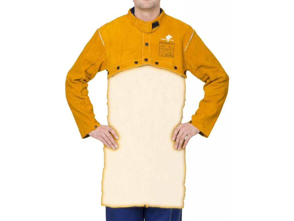 Odepínací svářečská halena WELDAS Golden Brown, vel. XL