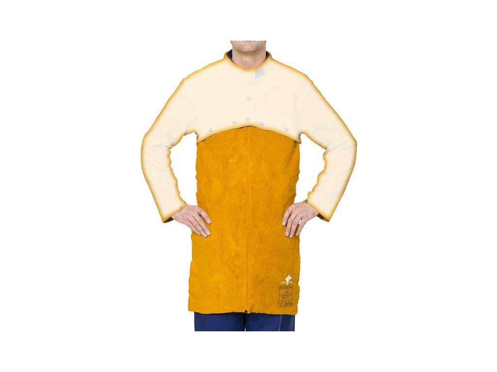 Odepínací svářečská zástěra WELDAS Golden Brown 91x56cm pro Bolero