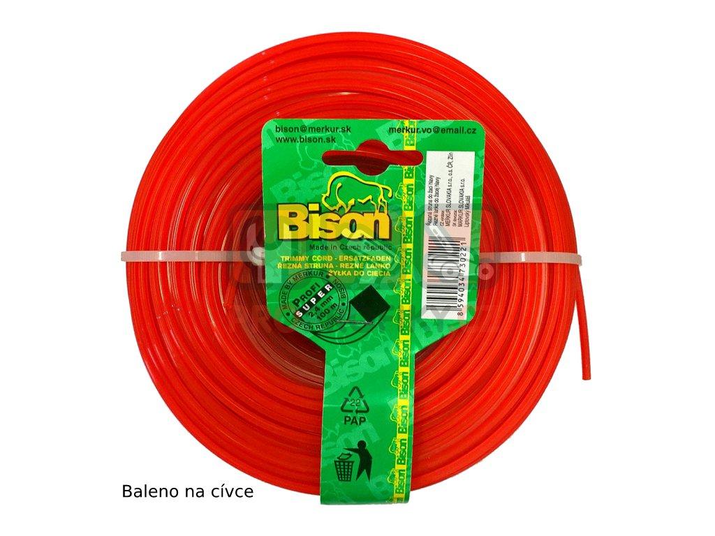 Žací struna BISON SUPER PROFI - čtyřhranná 1,6 mm / 15 m