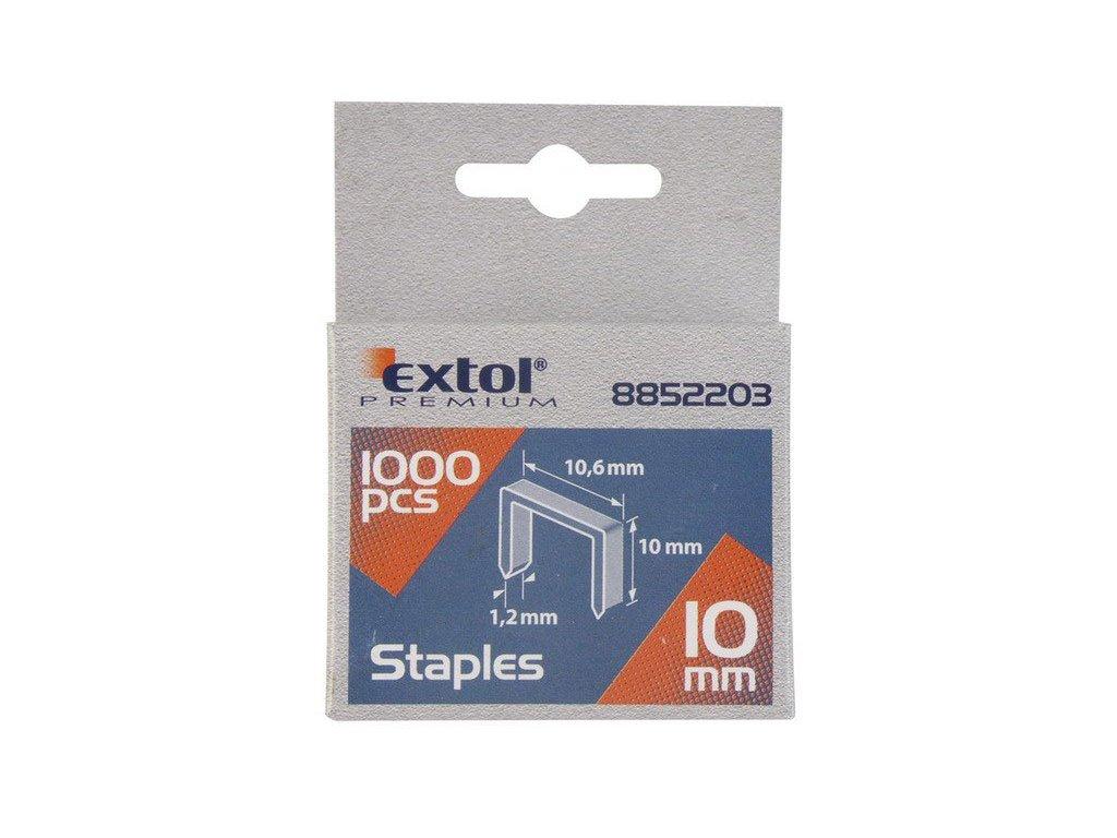 Sponky do sponkovačky EXTOL 10,6 x12