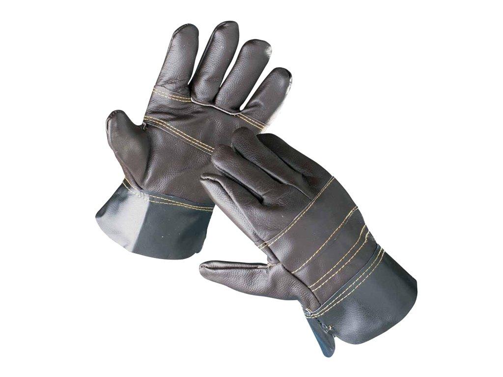 Pracovní rukavice ČERVA FRANCOLIN celokožené, vel. 10,5