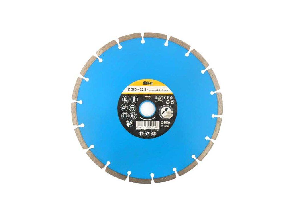 Diamantový segmentový kotouč MAGG 180x22,2mm modrý