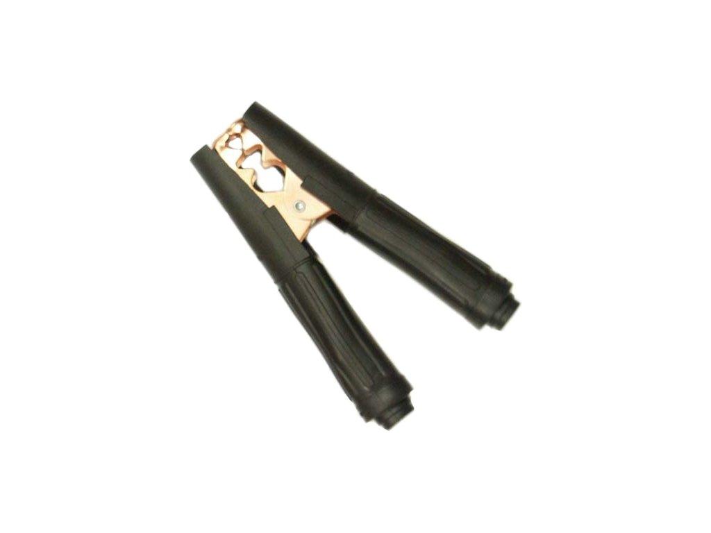 Svorka k nabíječce Bateria 500A 165mm černá