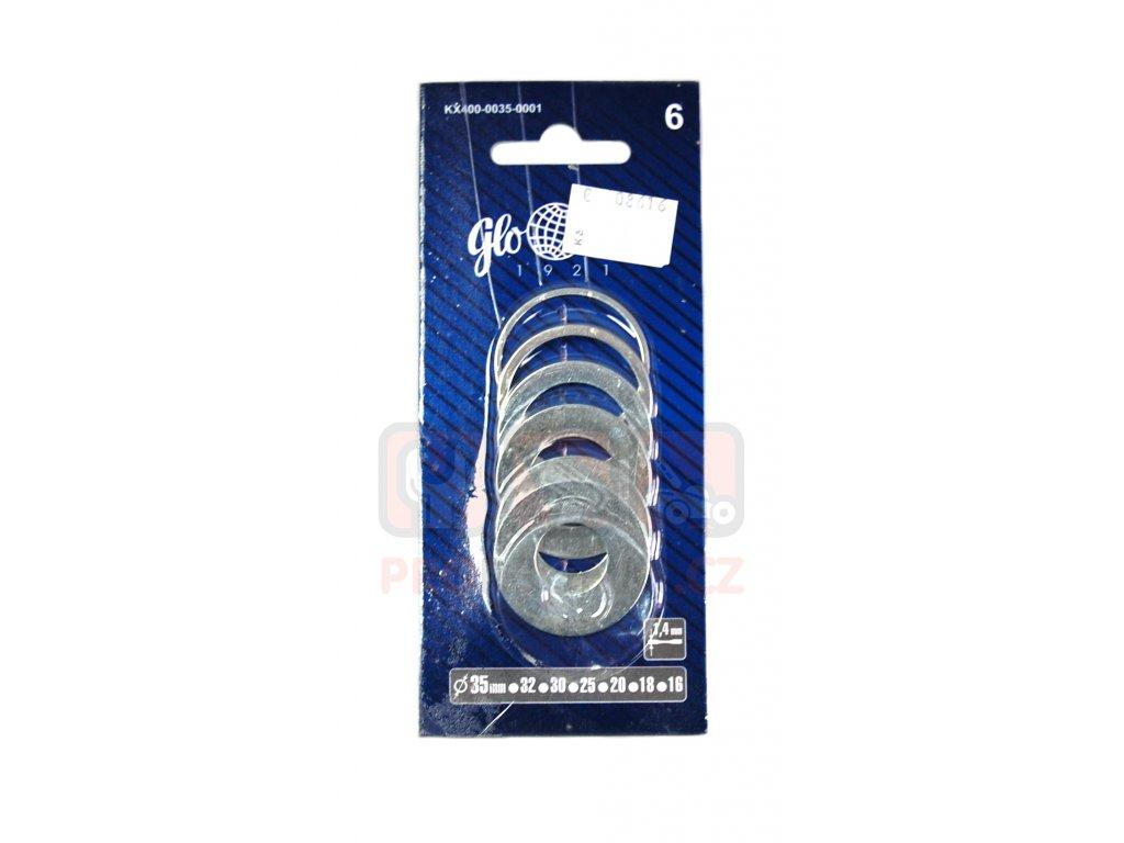 Kroužky redukční k pilovým kot. 35mmx1,4mm