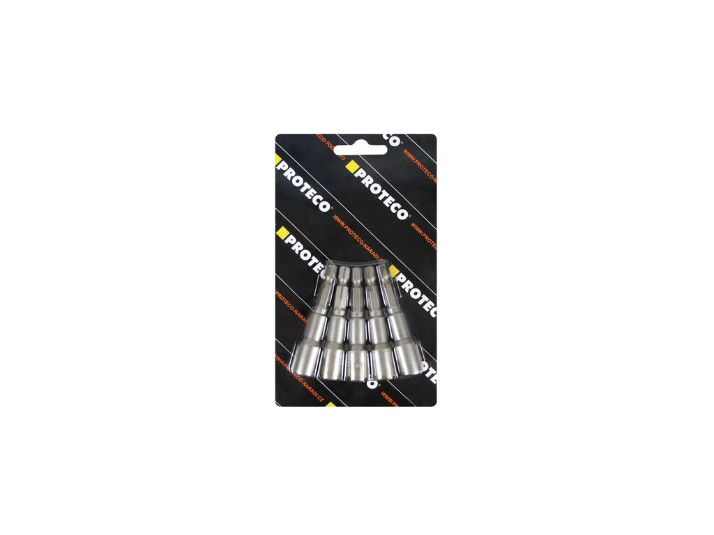 Sada nástrčných hlavics magnetem PROTEC stopka 1/4'' (5 ks)